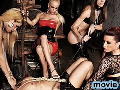 Shemale Punishers Face Fucking Their Slave