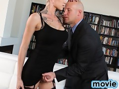 Watch Danni Fucked the Business End of a Client!