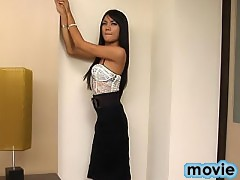 Watch this Thai ladyboy explode with jism