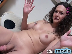 Horny Nikki spreads and masturbates