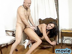 slutty tranny whore gets her ass stuffed with cock and fucks